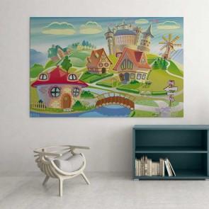Παιδικός Πίνακας Ζωγραφικής Village with Castle - Decotek 16029