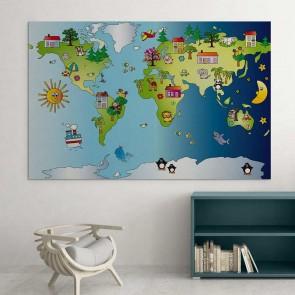 Παιδικός Πίνακας Ζωγραφικής Χάρτης - Decotek 16030