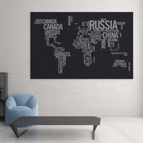 Πίνακας Ζωγραφικής World Map