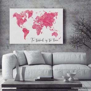 Πίνακας Ζωγραφικής Pink Map