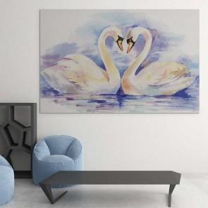 Πίνακας Ζωγραφικής Swans Love