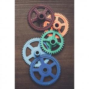 Πίνακας Ζωγραφικής Colorful Gears - Decotek 18705