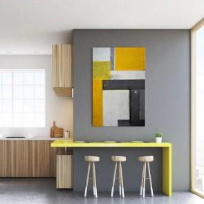 Πίνακας Ζωγραφικής Yellow Cubes