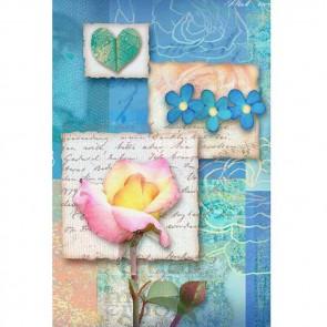 Πίνακας Ζωγραφικής Letters & Flowers