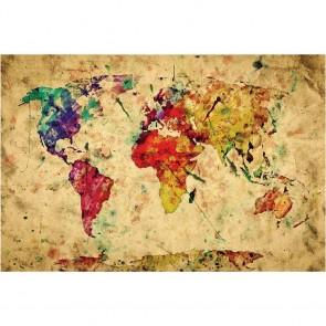 Πίνακας Ζωγραφικής Map - Decotek 13613