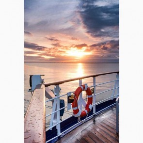 Πίνακας Ζωγραφικής Sunset On The Ship - Decotek 16076