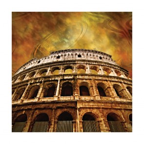 Πίνακας Ζωγραφικης Colosseum On Antique Background - Decotek 180624