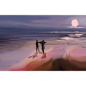 Πίνακας Ζωγραφικής Couple Walking By The Sea - Decotek 180690