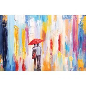 Πίνακας Ζωγραφικής Couple Walking In The Rain - Decotek 180691