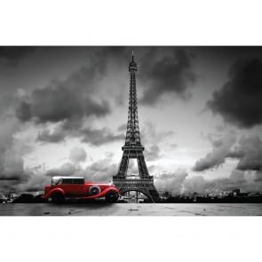 Πίνακας Ζωγραφικής Eiffel Tower And Retro Car - Decotek 180696