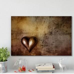 Πίνακας Ζωγραφικής Grunge Heart - Decotek 180701