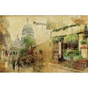 Πίνακας Ζωγραφικής Grunge Postcard - Decotek 180702
