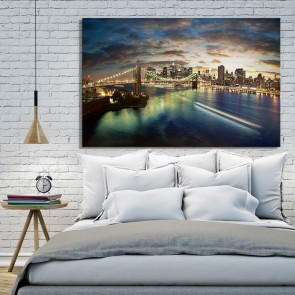 Πίνακας Ζωγραφικής Manhattan By Night - Decotek 180712