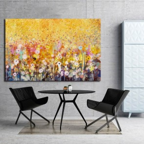 Πίνακας Ζωγραφικής Gold Abstract Flowers – Decotek 180754