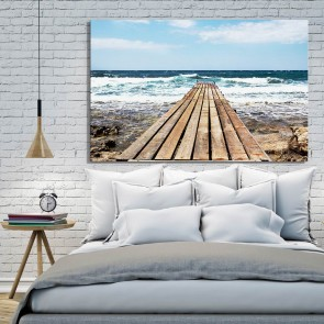 Πίνακας Ζωγραφικής Pier To Windy Sea – Decotek 180760
