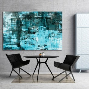 Πίνακας Ζωγραφικής Turquoise Abstract Art Painting – Decotek 180769