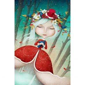 Πίνακας Ζωγραφικής Beautiful Snow Maiden – Decotek 180812
