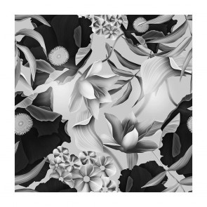 Πίνακας Ζωγραφικής Black and White Tropical Art - Decotek 180825