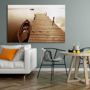 Πίνακας Ζωγραφικής Boat By The Pier - Decotek 180828