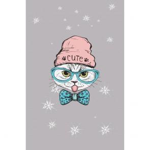 Πίνακας Ζωγραφικής Cute Hipster Cat – Decotek 180861