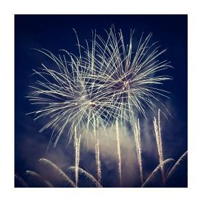Πίνακας Ζωγραφικής Fireworks at Night - Decotek 180887
