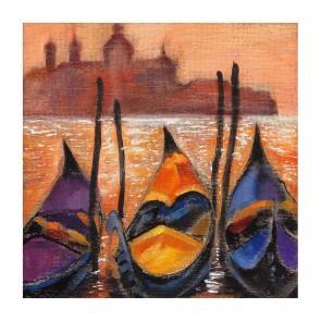 Πίνακας Ζωγραφικής Goldolas in Venice - Decotek 180907