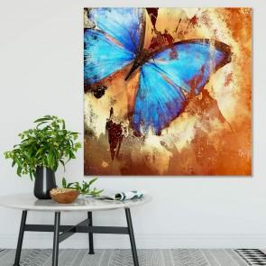 Πίνακας Ζωγραφικής Grunge Butterfly - Decotek 180915