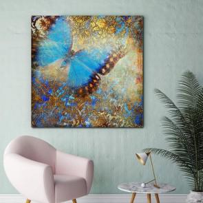 Πίνακας Ζωγραφικής Grunge Butterfly - Decotek 180916