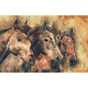 Πίνακας Ζωγραφικής Grunge Horses - Decotek 180918