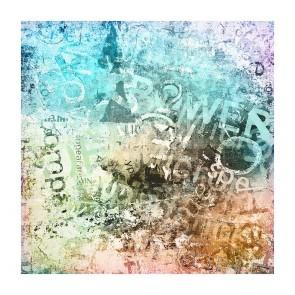 Πίνακας Ζωγραφικής Grunge Letters - Decotek 180919