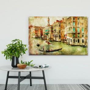 Πίνακας Ζωγραφικής  Grunge Venice Canals - Decotek 180928