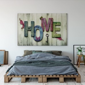 Πίνακας Ζωγραφικής  Home in Wood Background - Decotek 180936