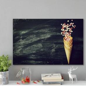 Πίνακας Ζωγραφικής  Ice Cream Horn With Sweethearts - Decotek 180937