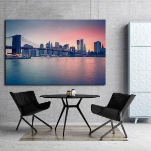 Πίνακας Ζωγραφικής  Manhattan at Sunset - Decotek 180963