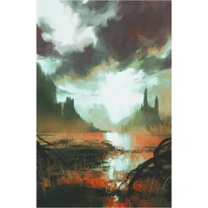 Πίνακας Ζωγραφικής Mystic Red Swamp at Sunset – Decotek 180993