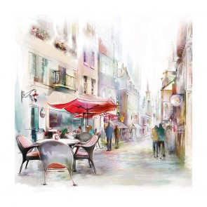 Πίνακας Ζωγραφικής Painting of a Vintage Street - Decotek 181013