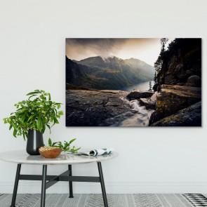 Πίνακας Ζωγραφικής River Foggy Mountains - Decotek 181045