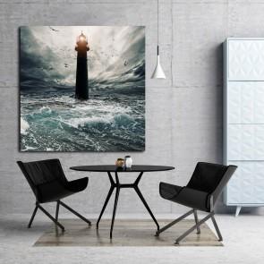 Πίνακας Ζωγραφικής Stormy Sky Over Lighthouse - Decotek 181066