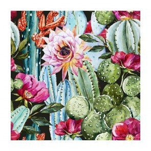 Πίνακας Ζωγραφικής Watercolor Cactus Pattern - Decotek 181100