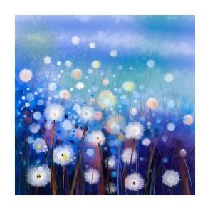 Πίνακας Ζωγραφικής White Flowers In Soft Field - Decotek 181105