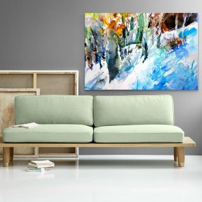 Πίνακας Ζωγραφικής Winter Forest - Decotek 181109