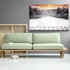 Πίνακας Ζωγραφικής Winter Forest Sunset - Decotek 181110