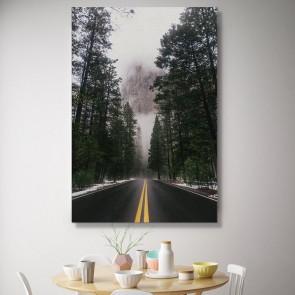 Πίνακας Ζωγραφικής Winter Mountain Road – Decotek 181113