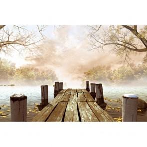 Πίνακας Ζωγραφικής Wooden Dock With Trees - Decotek 181123