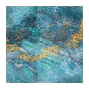 Πίνακας Ζωγραφικής Blue And Gold Marble - Decotek 190866
