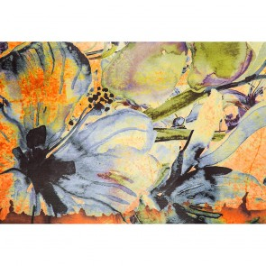 Πίνακας Ζωγραφικής Blue And Orange Flowers - Decotek 190868