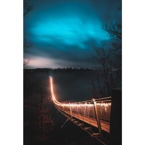 Πίνακας Ζωγραφικής Bridge With Light During Nightime – Decotek 190875