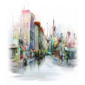 Πίνακας Ζωγραφικής City Street – Decotek 190899