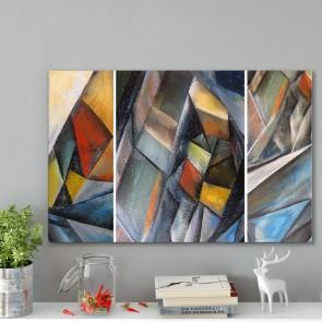 Πίνακας Ζωγραφικής Modern Triangle Painting - Decotek 191152