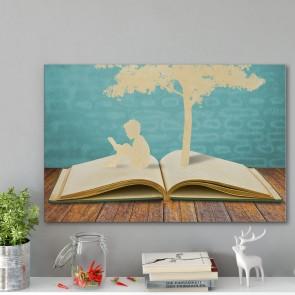 Πίνακας Ζωγραφικής Paper Cut Children And Tree - Decotek 191162
